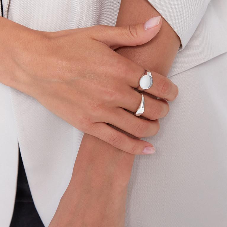 """Кольцо печатка """"Mini Signet"""" овальная"""